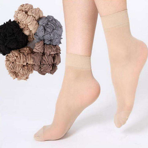 Casual Crystal Silk Female Short Sock