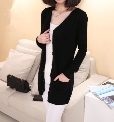Sweater Medium Long Cashmere Cardigan