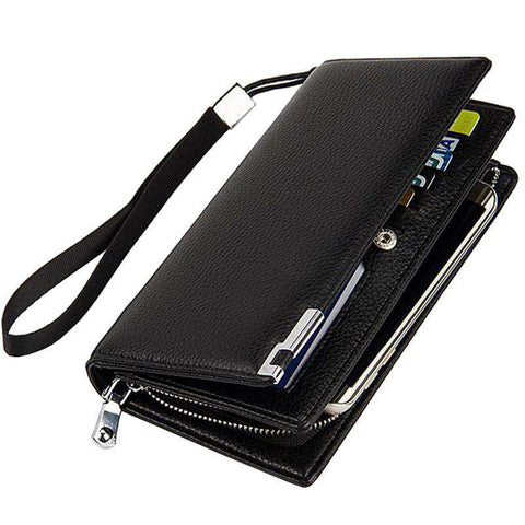 Men's Clutch Wallets High Quality Leather Zipper