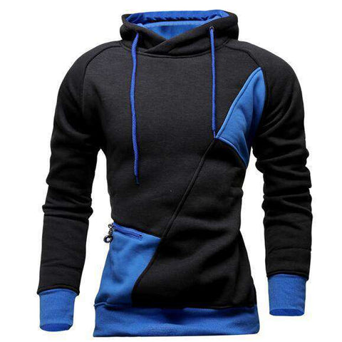 Hoodies Men Letter Hooded Zipper Sweatshirt Slim