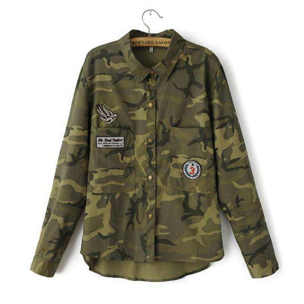 Long Sleeve Militar Mujers Coat Women