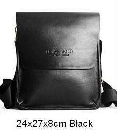 Casual Fashion men messenger bag genuine leather