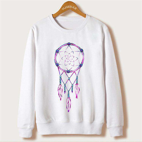 Casual Sweatshirts Long Sleeve White Hoodies Women