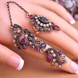 Carved Flowers Vintage Pretty Exquisite Mid Rings for women