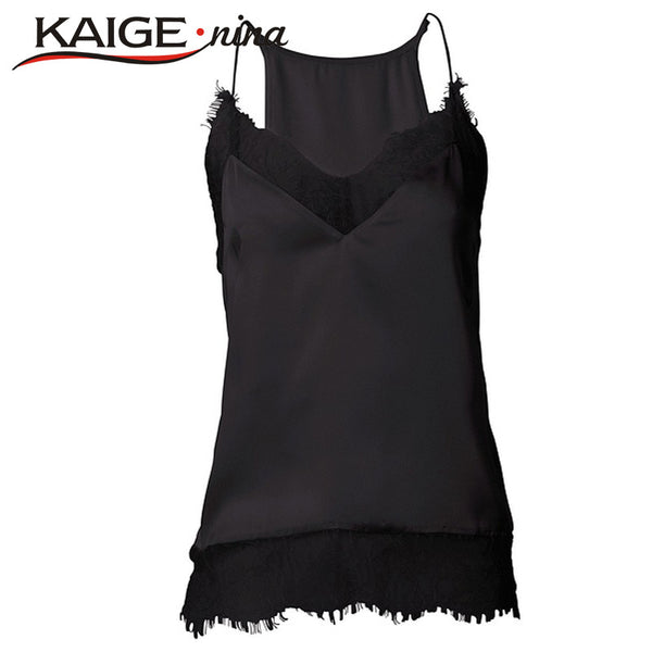 Summer New girl women Sexy lace tank top Sling Camo