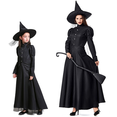 The Wizard of Oz Halloween Mother Daughter Costume - Black