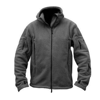 Military Man Zipper Jacket Thermal Polar Hooded Coat