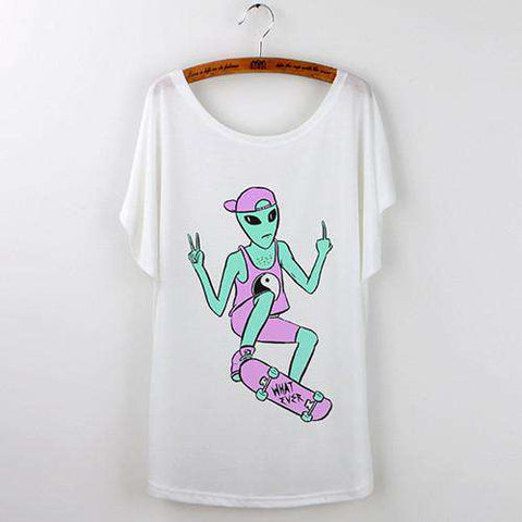 Alien T Shirt Casual Summer Top