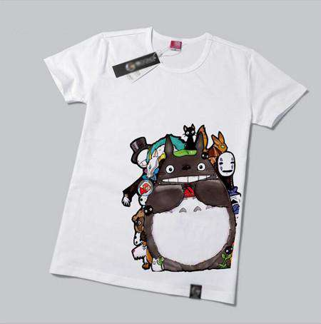 Cat Printed Female Short Sleeve Cotton T-Shirt