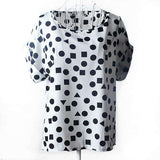 Polka Dots Stars Kisses Printed Women Summer Style Tops