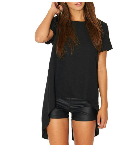 T Shirts Women Summer O-Neck Short Long Vetement Femme