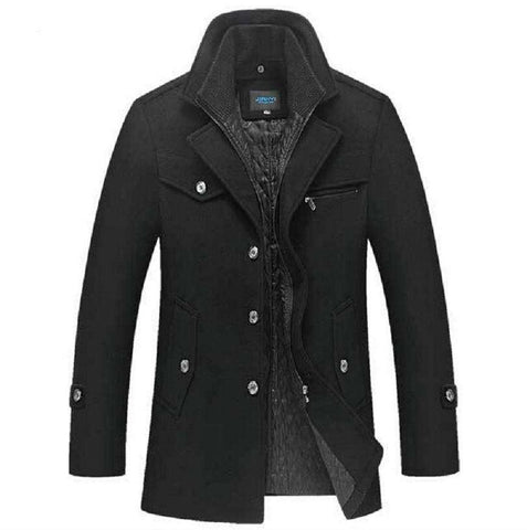 Warm Man Casual Jacket Overcoat Pea Coat