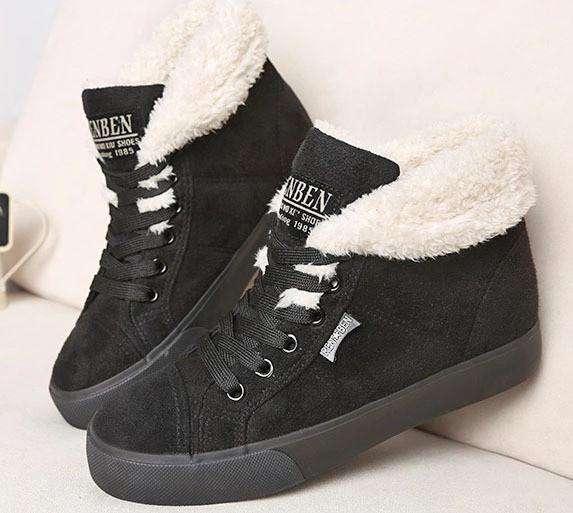 Round Toe Lace Up Ankle Boots for Women