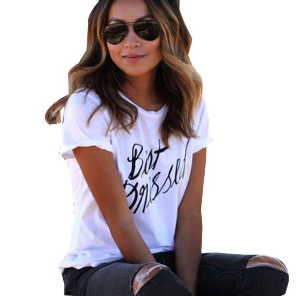 Print Letter T Shirt Women Top Casual