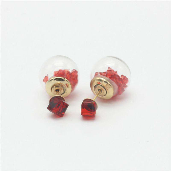 Double Side Square Stud Earrings