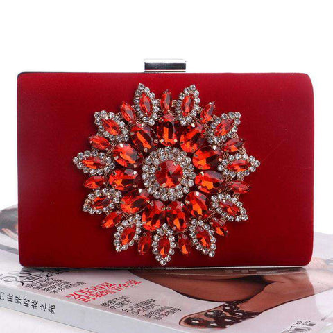 Diamond Crystal Evening Clutch Bag for Woman