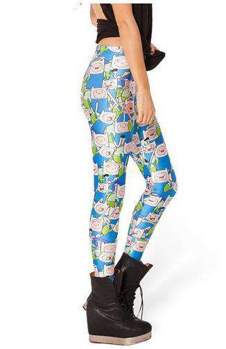 Fashion sexy Cute 3d Graphic Colourful Printed Women Leggings Pant Funky Jegging show your beauty in winter