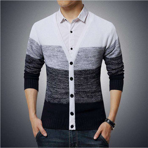 Cardigan Men Sweater Brand Casual Shirt V-Neck
