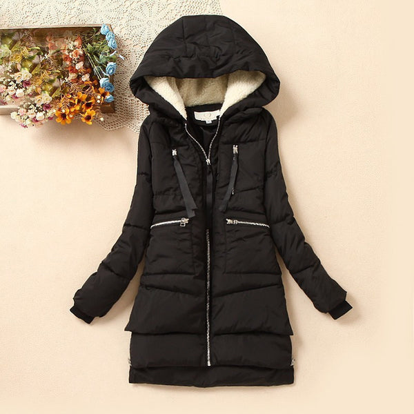 Women Wadded Jacket Outerwear Casual Down Cotton