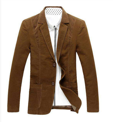 Casual Suit Blazer Slim Fit Men's Suit Business Cotton