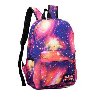Bag Stars Universe Space Printing Canvas Backpacks Women