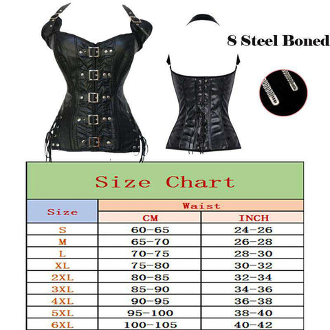 Leather Steampunk Corset Waist Trainer For Women