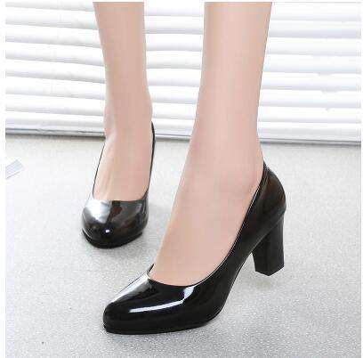 Formal Shoes High-Heeled Round Toe