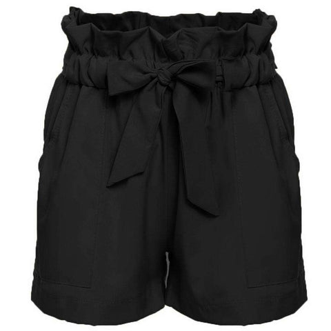 High Waist Skirt Shorts Bow Belt For Women
