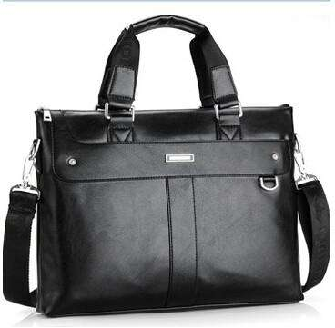 Men's Casual Shoulder Bags Business Briefcase PU Leather