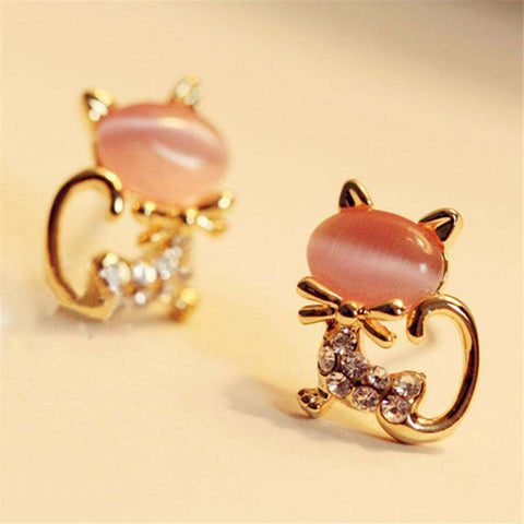 Diomedes Style Fashion Womens Cute Cat Stud Earrings
