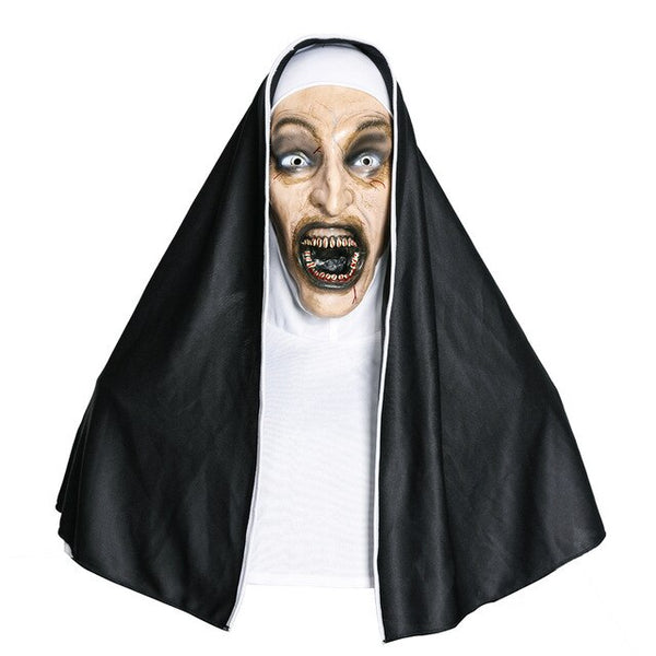The Conjuring Valak Halloween Nun Mask With Headscarf