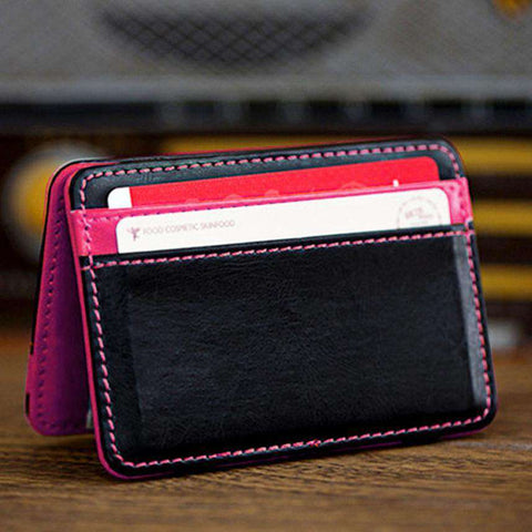 Men's Mini Neutral Magic Leather Wallet Card