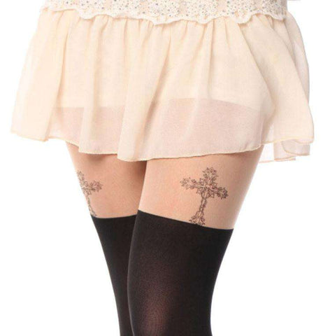 New Fashion Velvet Tattoo Women Tights
