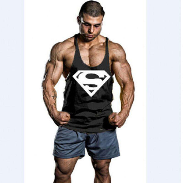 Bodybuilding Tank Tops Men Fitness Sleeveless Vest Cotton
