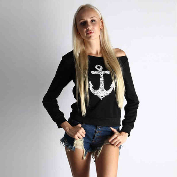 Women Long Sleeve Shirt Tops Cotton Top Tee Black