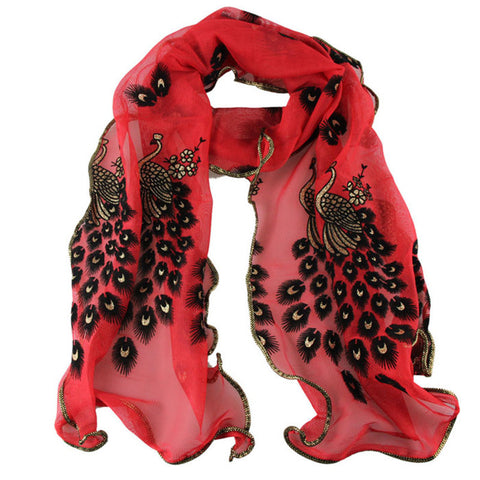 Women's Fashion Handmade Lace Peacock Scarves
