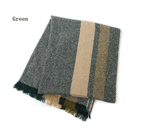 Casual Scarf Herringbone Pattern Square