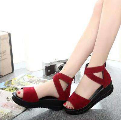 Leather Wedges Women