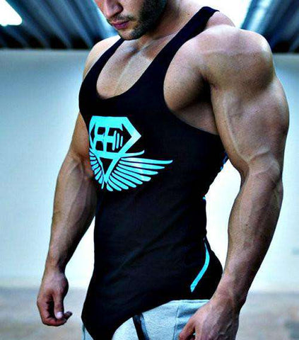 Cotton Bodybuilding and Fitness Sleeveless tops