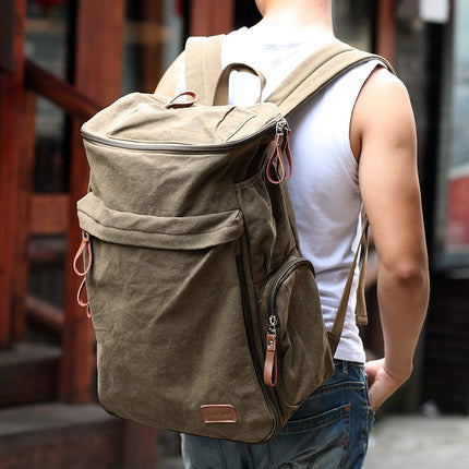 Vintage Backpack Large Capacity Men's Canvas Travel Bags