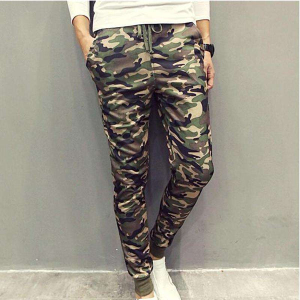 Cool Casual Military Trouser Slim Trend Sweatpants Men Joggers