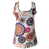 Tank Tops Sleeveless Loose Render Print Women