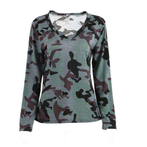 Casual Women Camo Long Sleeve