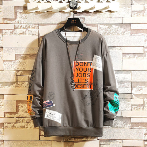 Men's Hip Hop Oversize Sweatshirt