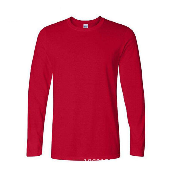 Classic Men T shirt Long Sleeve O neck Mens T-shirt