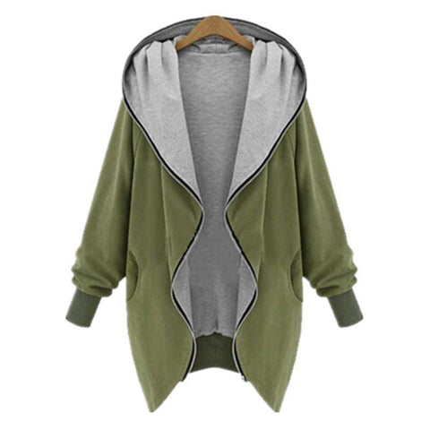 Casual Hooded Large Size Women Outerwear Coats
