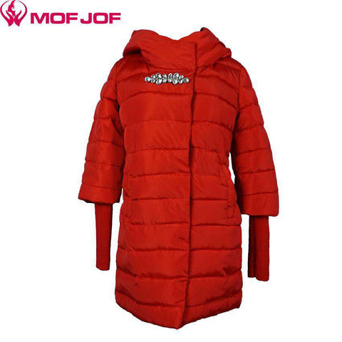 Jacket Women Long Coat Parkas Thickening