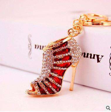 crystal High Heel Keychains Rhinestone Shoe Women