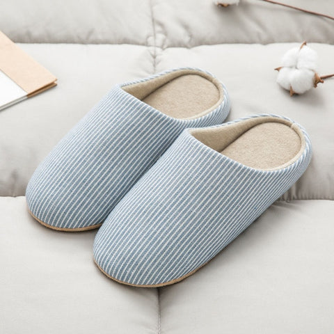 Anti-Slip Cotton Linen Fur Flip Flops