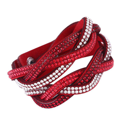 Crystal Multilayer Bracelets Bangles for Women